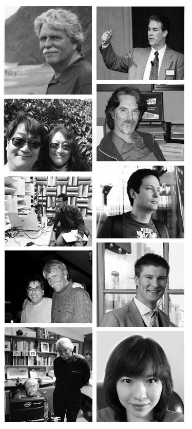 photo collage of sound research team